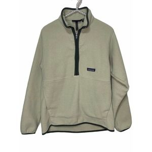 Patagonia synchilla green 1/4 zip fleece pullover